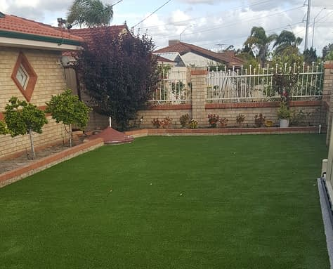 Artificial Grass Installation in Courtyard in South Perth