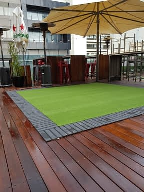 Golf Turf Installation in Roof Top Bar and Restaurant