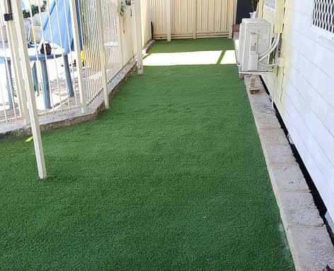 Artificial Grass Installation in Backyard