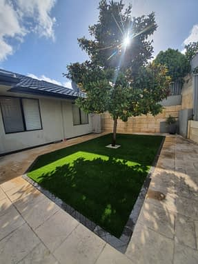 Perth Artificial Grass Installation – Magnolia Beauty