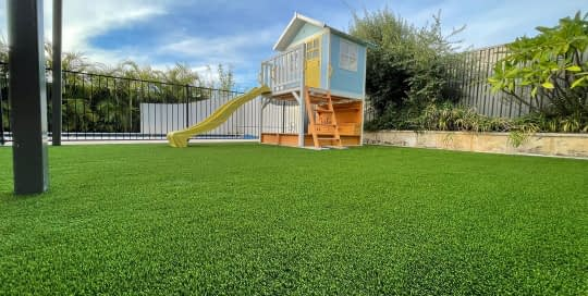 synthetic turf install cubby house