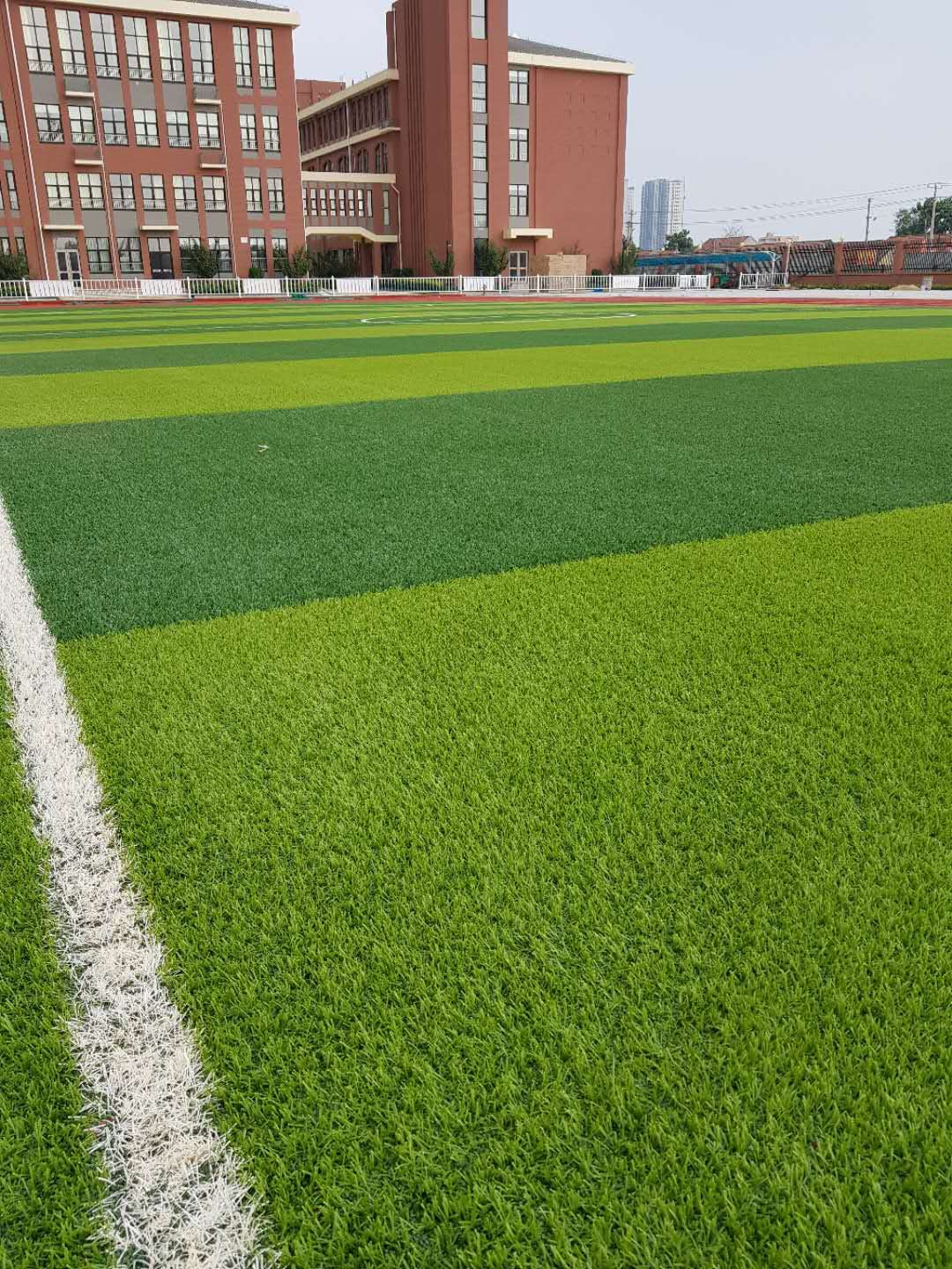 Soccer Field Synthetic Turf Installation Close Up