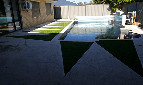 Synthetic Lawn; The Perfect Swimming Pool Area Sorround – Premium Synthetic Grass At Perth's Best Prices – Metro Synthetic Turf