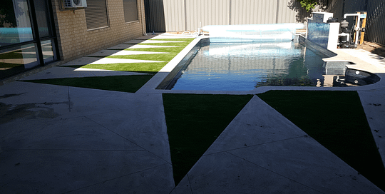 Artificial Lawn Around Swimming Pool