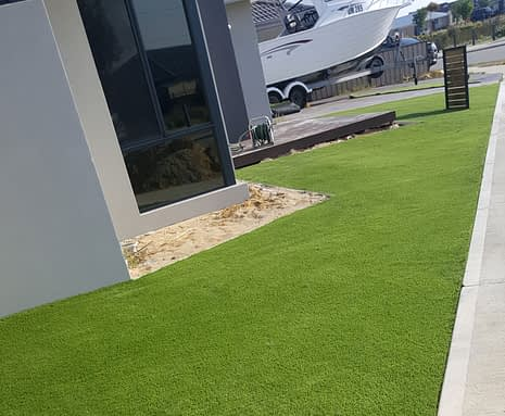 Artificial Grass Install on Corner House in Landsdale