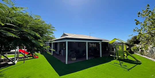 synthetic turf install cubby house 5