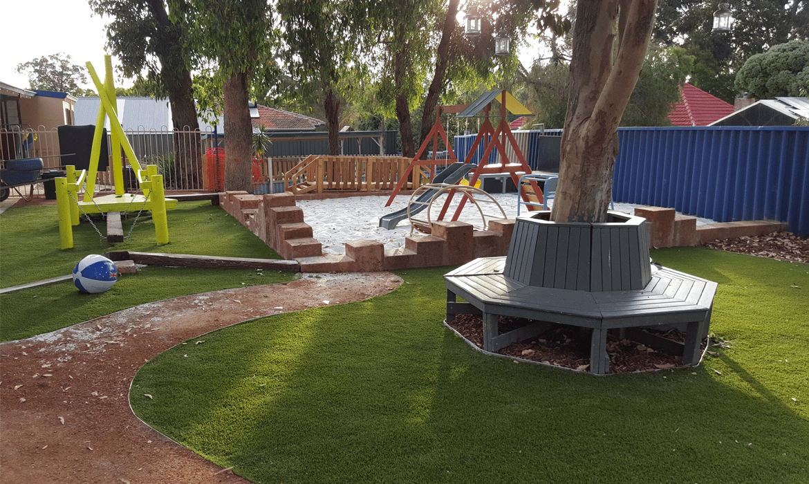 Artificial Grass Installation with cubby house