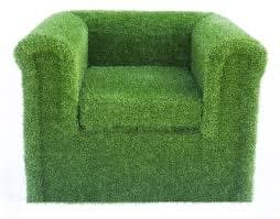 artificial grass chairs and furniture